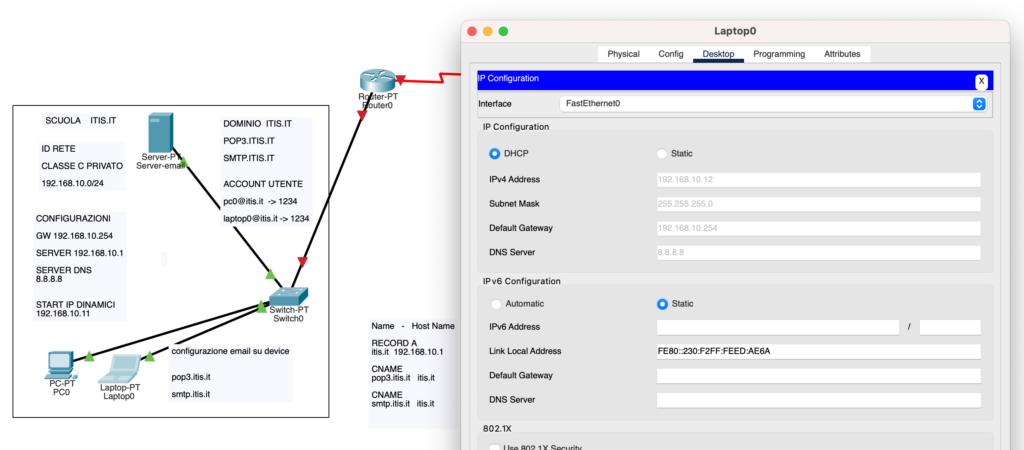 gui ip client configuration